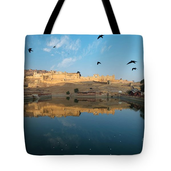 Tote Bag featuring the photograph Amber Fort  by Yew Kwang
