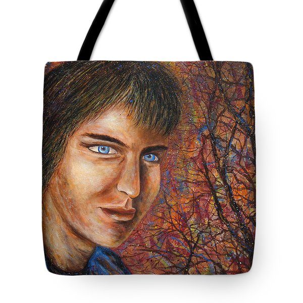 Tote Bag featuring the painting Amber Glow by Natalie Holland