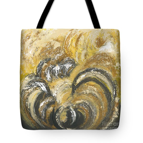 Tote Bag featuring the painting Amber Is The Color Of Your Energy by Ania M Milo
