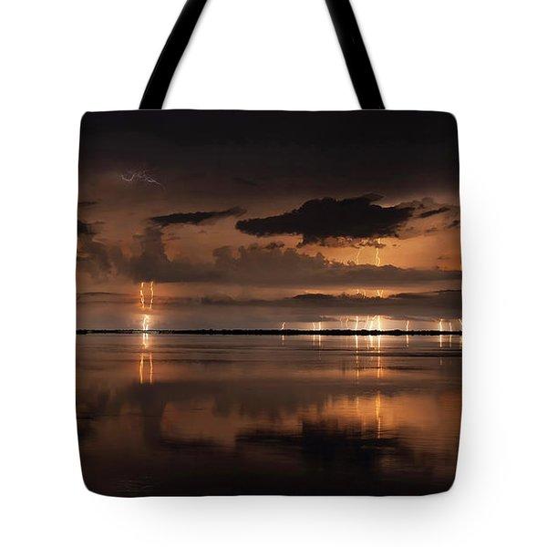 Amber Nights Tote Bag