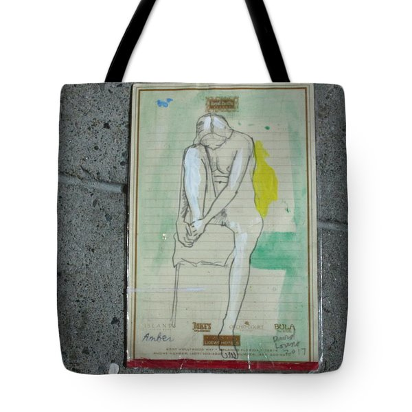 Amber On A Stool Tote Bag