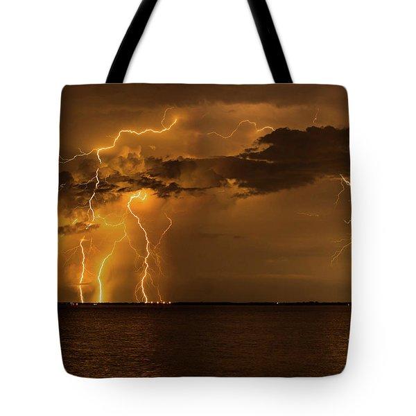 Amber Rain Tote Bag