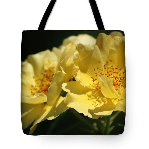 Amber Yellow Country Rose Tote Bag
