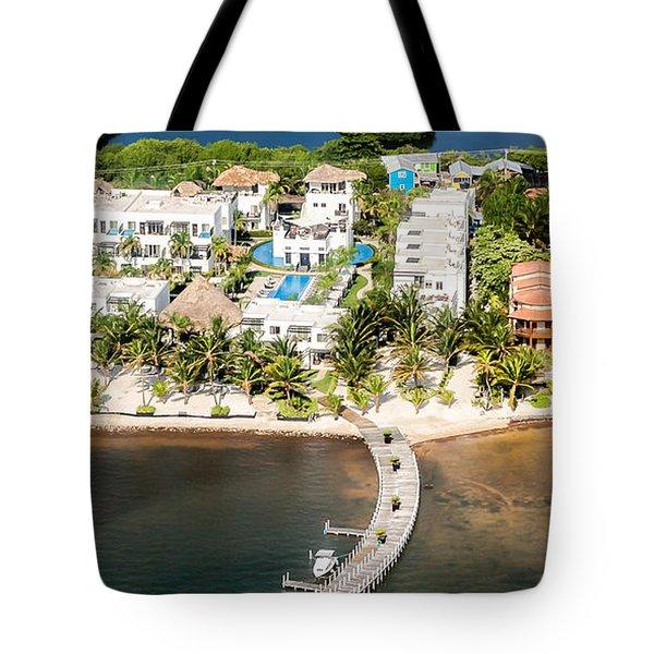 Ambergris Caye Aerial View Tote Bag