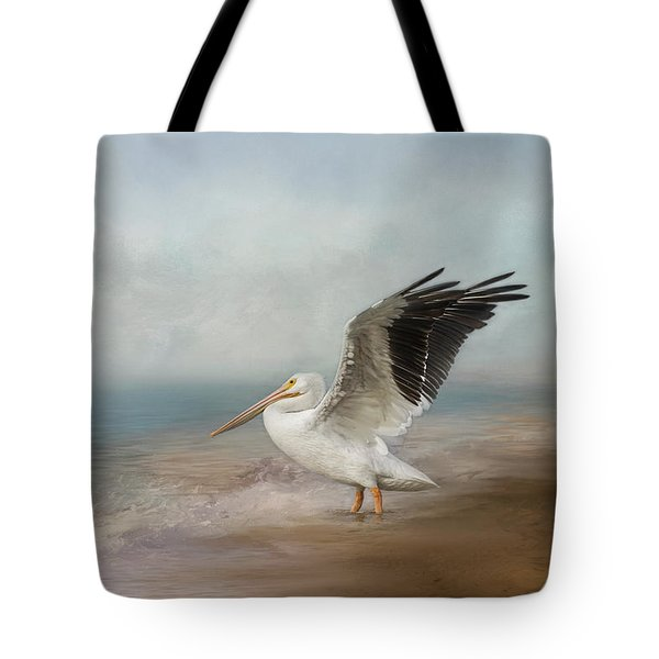Tote Bag featuring the photograph Amble Along The Shore by Kim Hojnacki