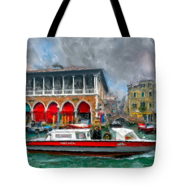 Ambulanza. Venezia Tote Bag