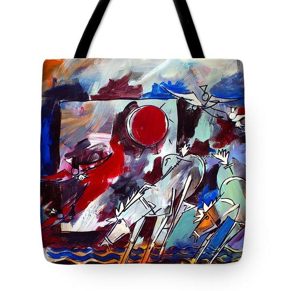 Ameeba 36-horses By The Sea 2 Tote Bag