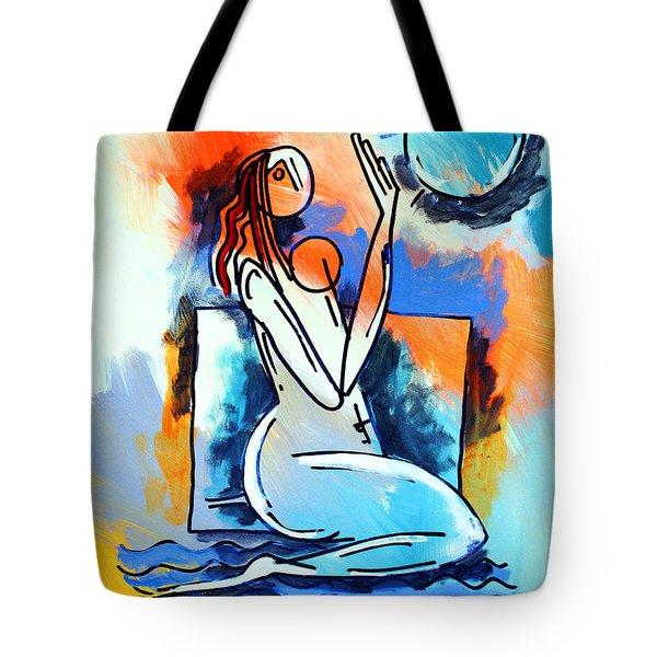 Ameeba- Nude Woman On Beach 5 Tote Bag