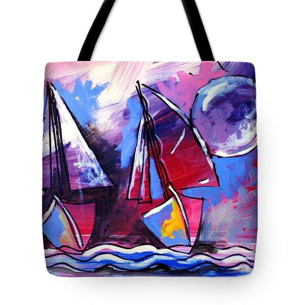 Ameeba- Sailboats 2 Tote Bag