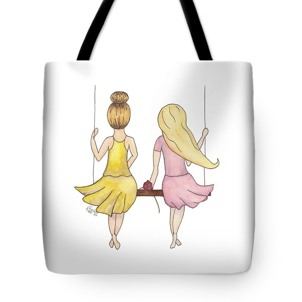 Tote Bag featuring the painting Amelia And Lillian by Betsy Hackett