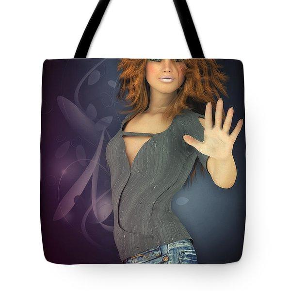 Amelie In Jeans Tote Bag