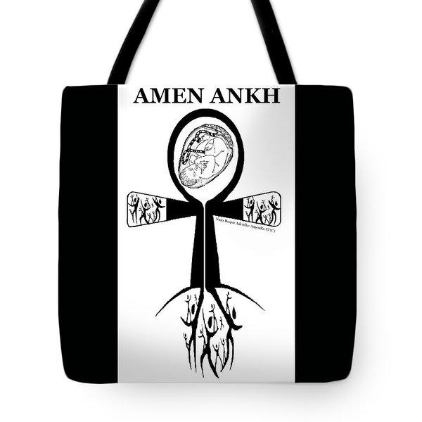 Amen Ankh Bw Tote Bag