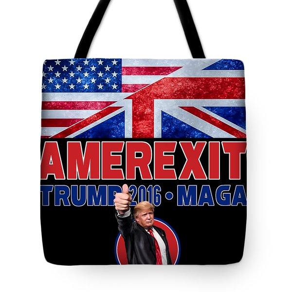 Tote Bag featuring the digital art Amerexit by Don Olea