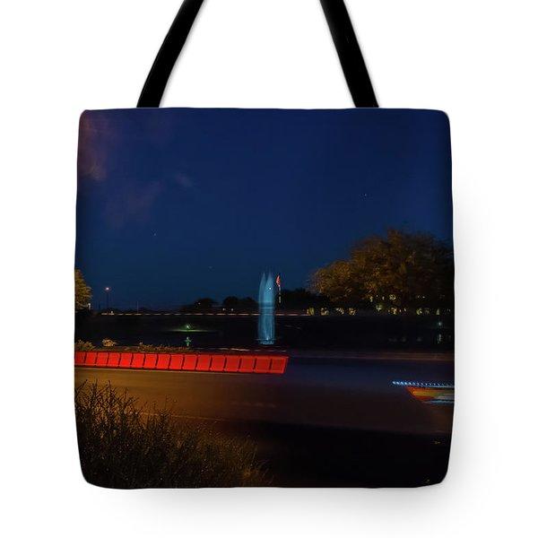 America At Night Tote Bag