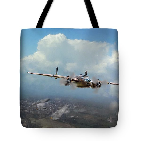 Tote Bag featuring the digital art America Strikes Back by Peter Chilelli