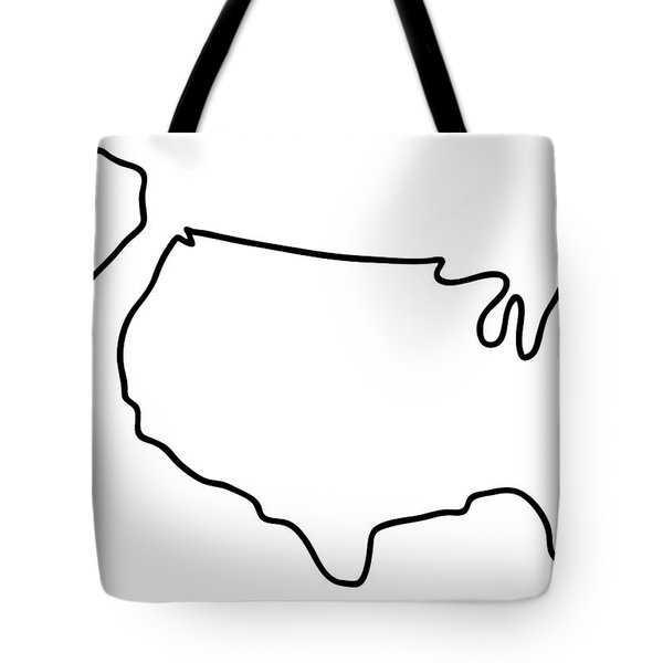 america USA map Tote Bag by Lineamentum
