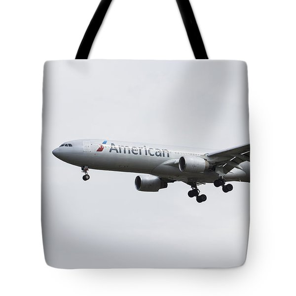 American Airlines Airbus A330 Tote Bag
