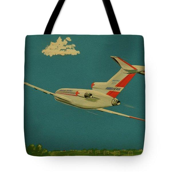 American Airlines Boeing 727 Tote Bag