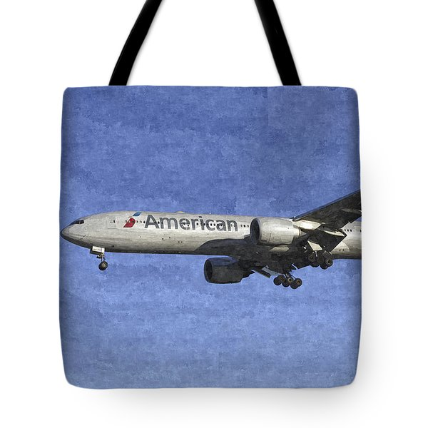 American Airlines Boeing 777 Aircraft Art Tote Bag