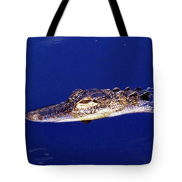 American Alligator 015 Tote Bag by Chris Mercer