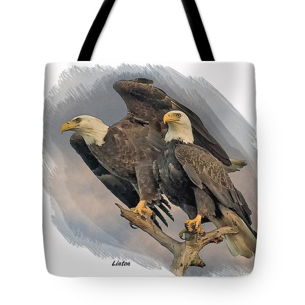American Bald Eagle Pair Tote Bag