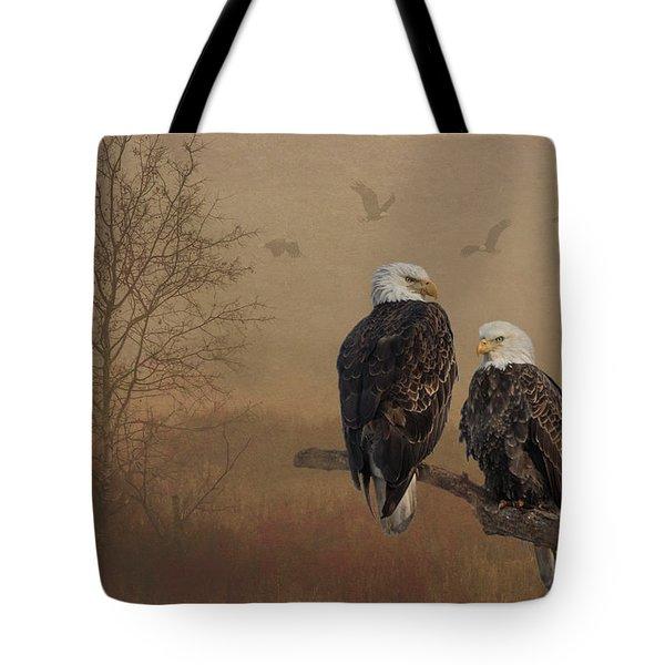 American Bald Eagle Family Tote Bag