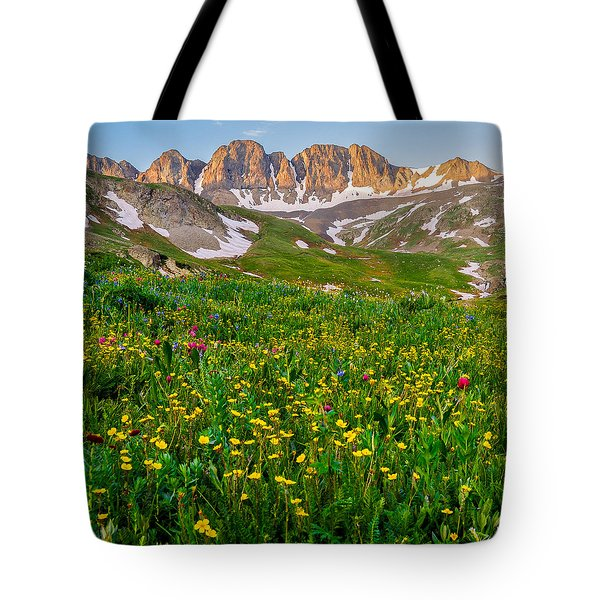 Tote Bag featuring the photograph American Basin Square Format by Aaron Spong