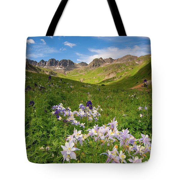 Tote Bag featuring the photograph American Basin by Steve Stuller