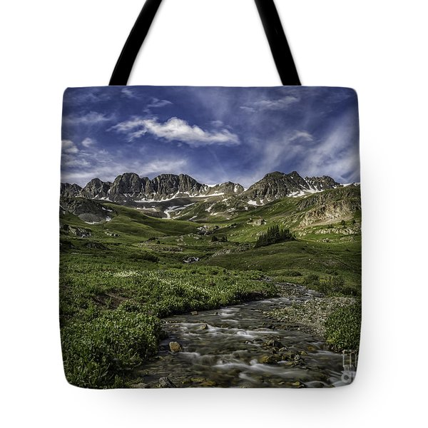 Tote Bag featuring the photograph American Basin Trail Head by Bitter Buffalo Photography