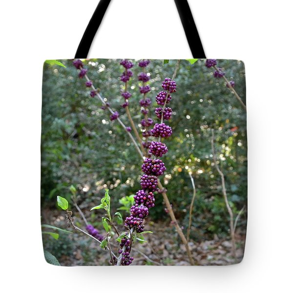Tote Bag featuring the photograph American Beautyberry by Carol  Bradley