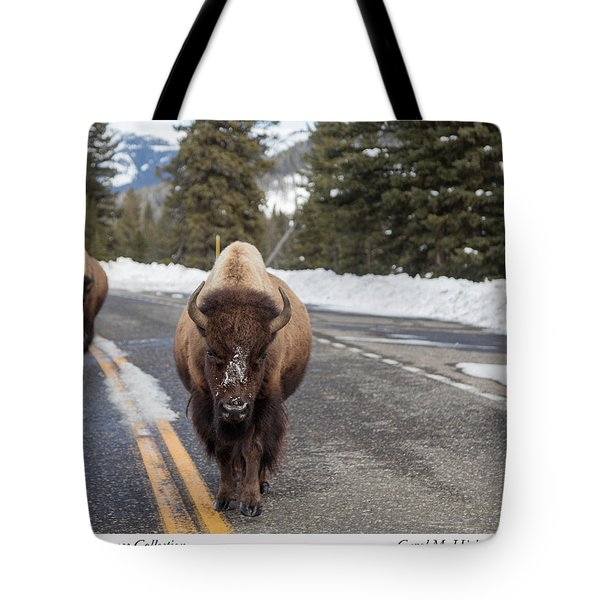 American Bison In Yellowstone National Park Tote Bag