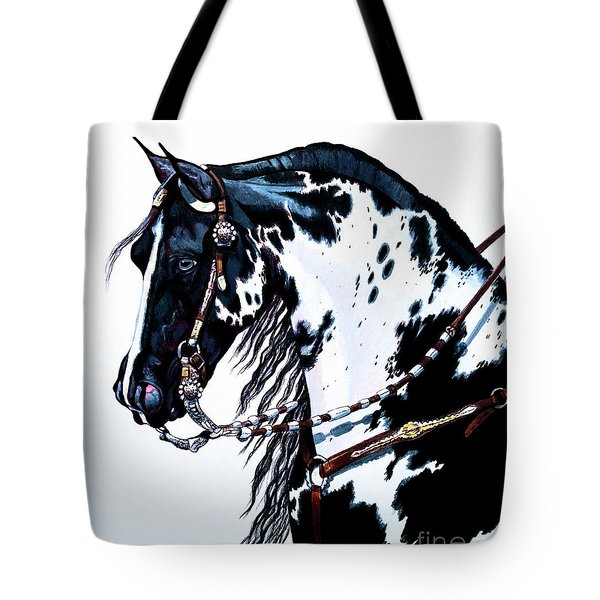 American Black And White Paint  Tote Bag