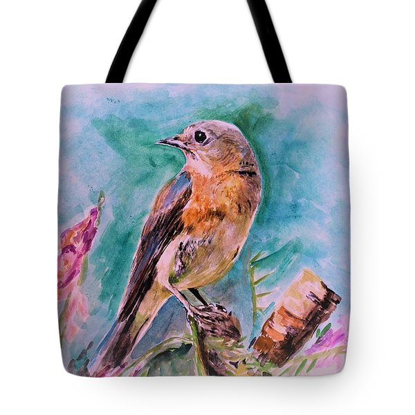 American Blue Bird Tote Bag
