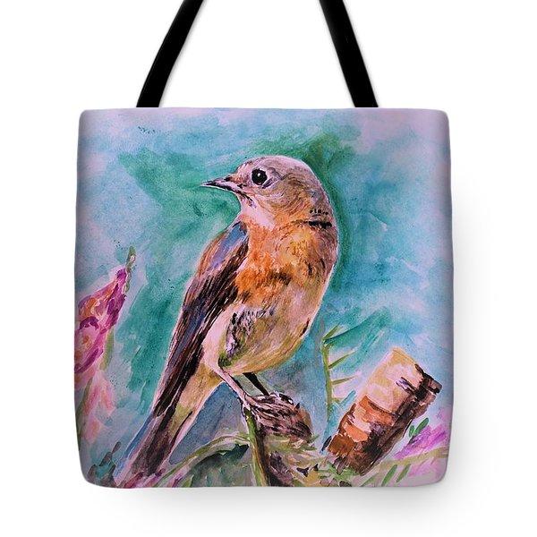 American Blue Bird Tote Bag