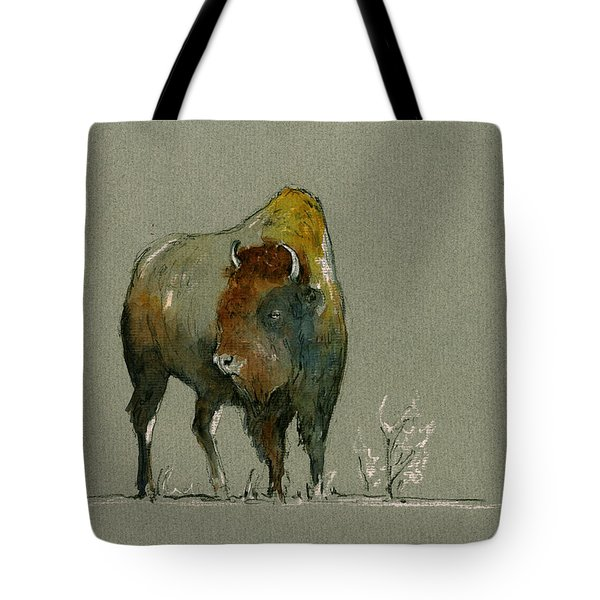 American Buffalo Tote Bag by Juan  Bosco