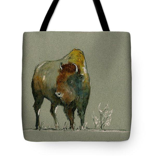American Buffalo Tote Bag by Juan  Bosco