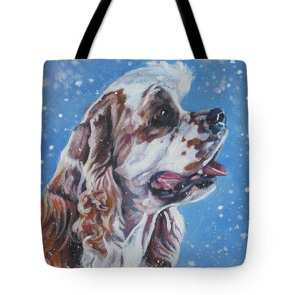 American Cocker Spaniel Tote Bag by Lee Ann Shepard