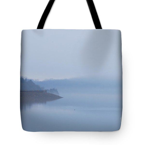 American Coot In Misty Fog 20120316_40a Tote Bag by Tina Hopkins