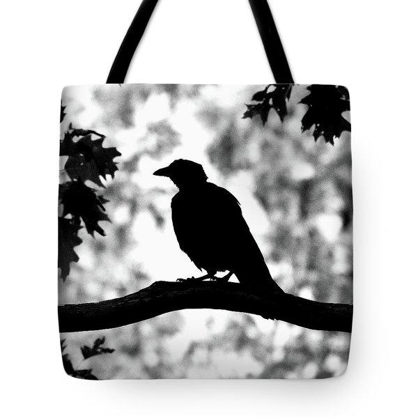 American Crow Silhouette Tote Bag