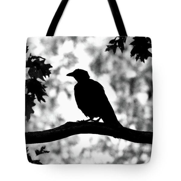 American Crow Silhouette Tote Bag