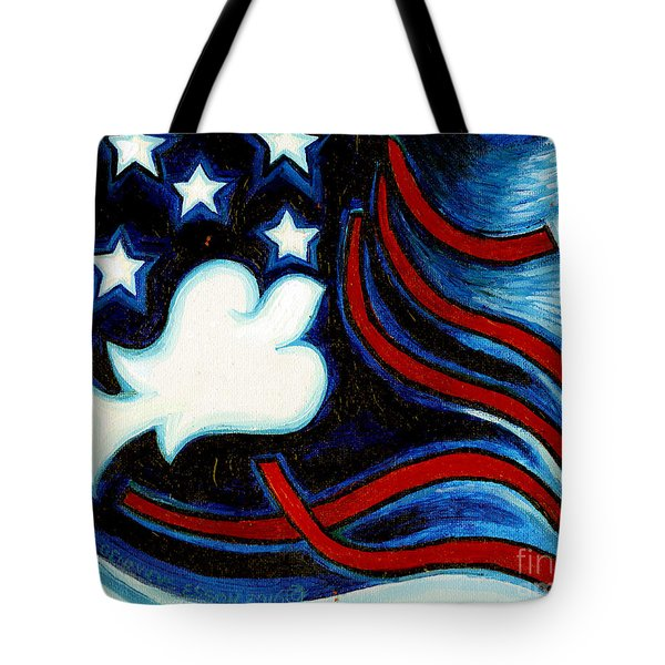 Tote Bag featuring the painting American Dove by Genevieve Esson