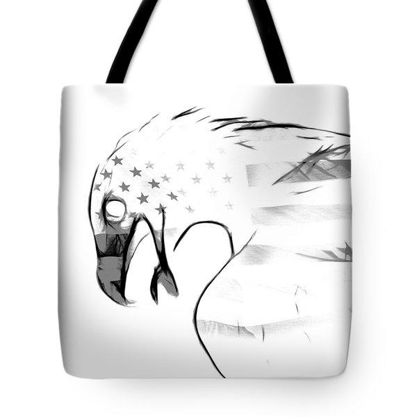 American Eagle Black And White Tote Bag by Melanie Viola