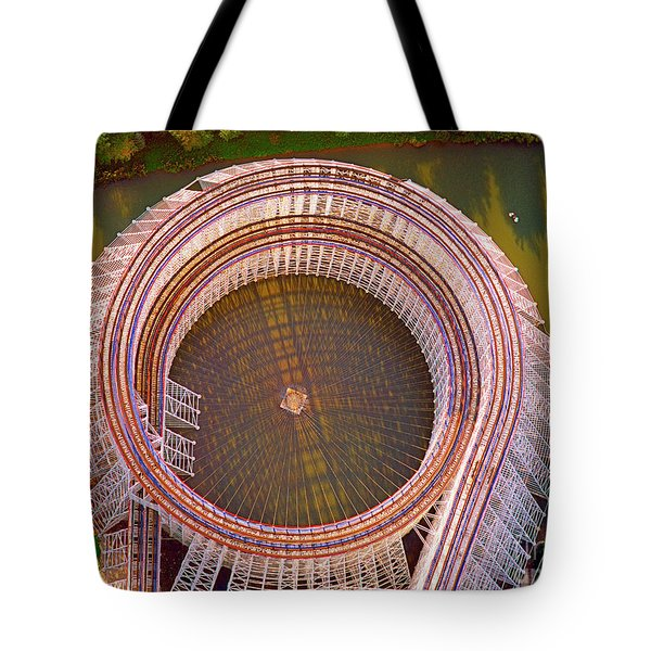 Tote Bag featuring the photograph American Eagle Roller Coaster  by Tom Jelen
