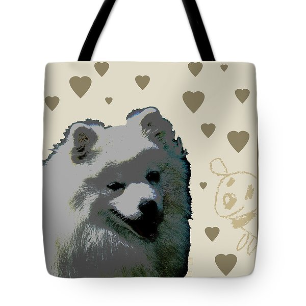 American Eskimo Tote Bag by One Rude Dawg Orcutt