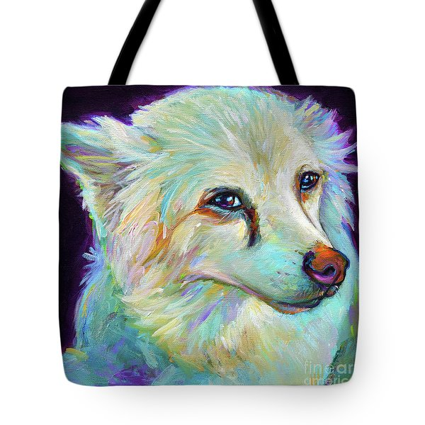 Tote Bag featuring the painting American Eskimo by Robert Phelps