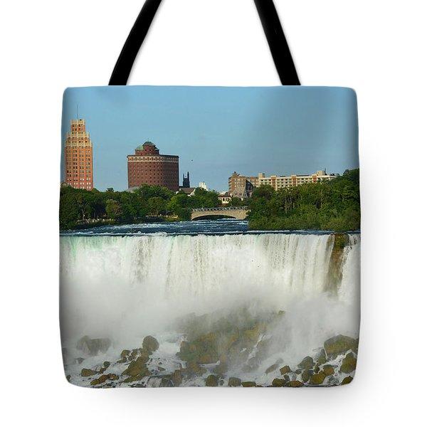 American Falls With Bridal Veil Tote Bag