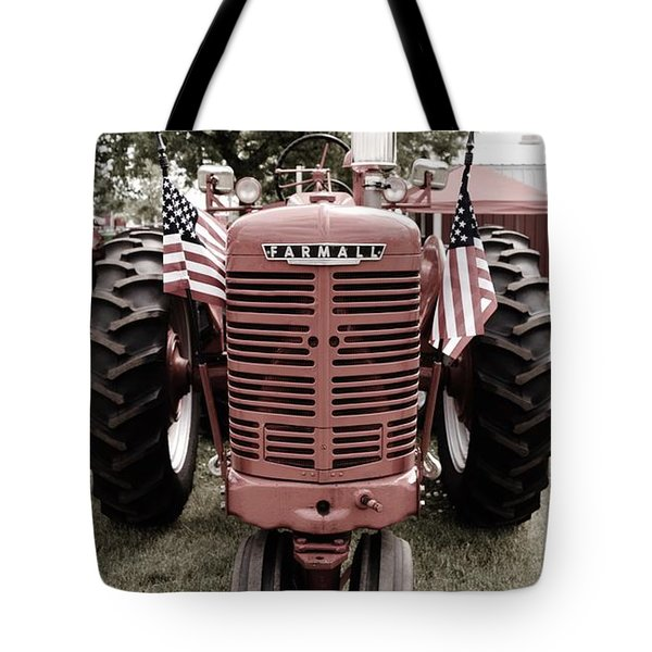 American Farmall Head On Tote Bag by Meagan  Visser