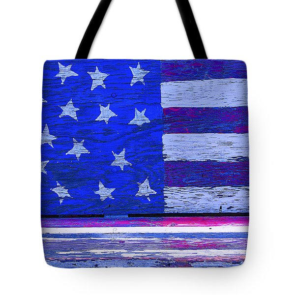 American Flag Bench Tote Bag