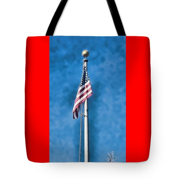 American Flag 'painted' Tote Bag