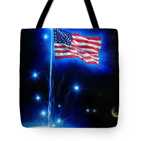 American Flag. The Star Spangled Banner Tote Bag by Sofia Metal Queen